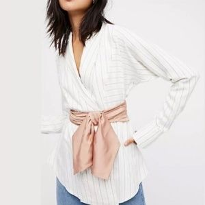 New NFC Free People Silk bow belt